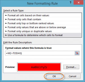 formula conditional formatting in excel 20