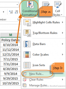 formula conditional formatting in excel 16