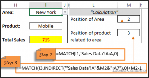 Indirect function in excel 8