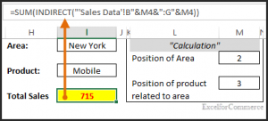 Indirect function in excel 9