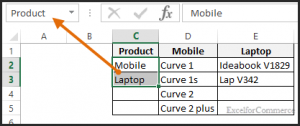 dropdown in excel 3