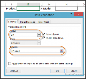 dropdown in excel 5
