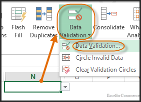 dropdown in excel 7