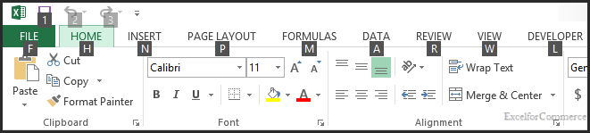 excel shortcuts 1