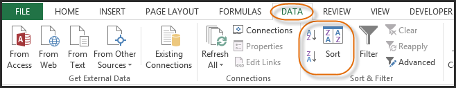 sort horizontally in excel 1