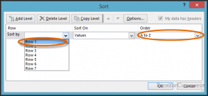 sort horizontally in excel 6