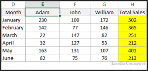 sort horizontally in excel 7