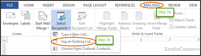 mail merge in excel 3