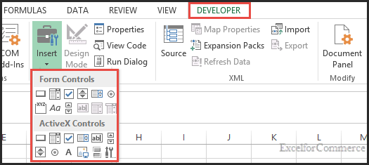 difference between activex and form controls 1