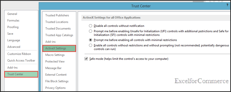 difference between activex and form controls 2