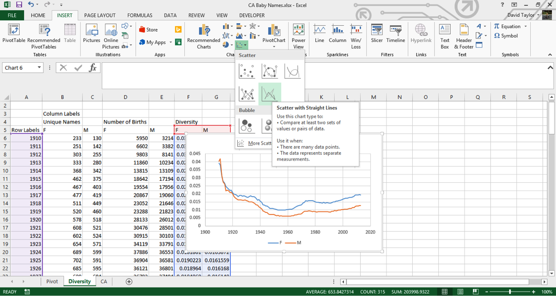 analyze large data sets excel 10