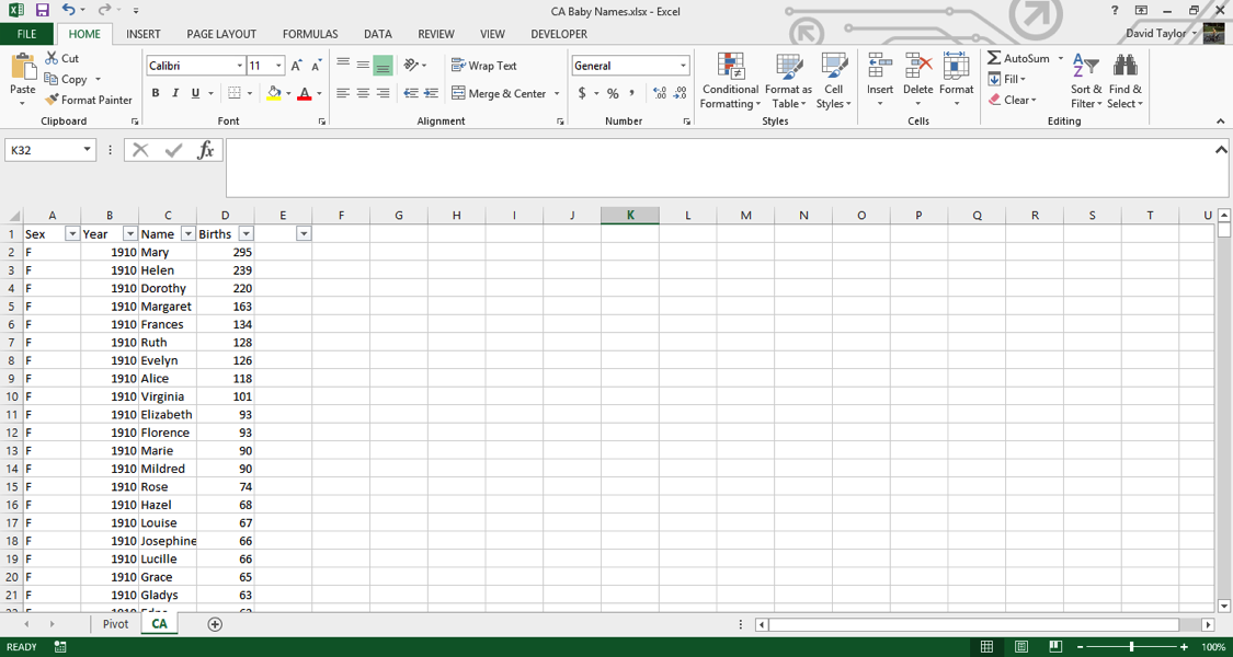analyze large data sets excel 2