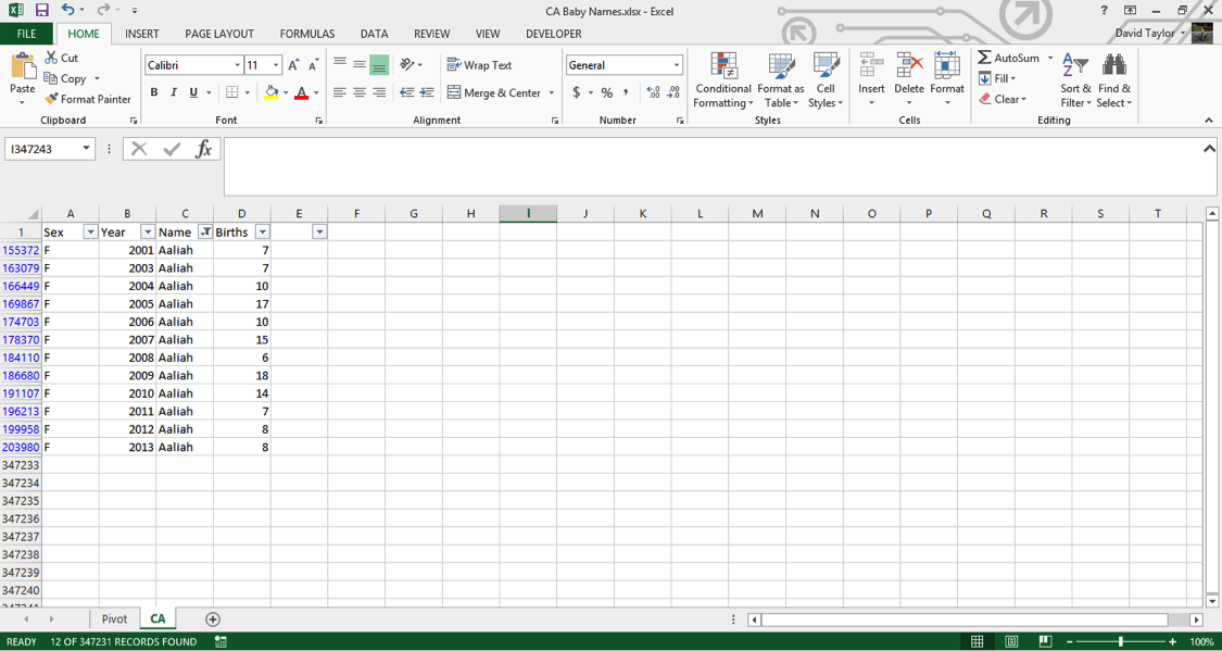 analyze large data sets excel 3
