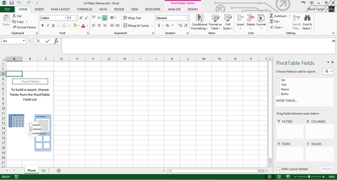 analyze large data sets excel 4