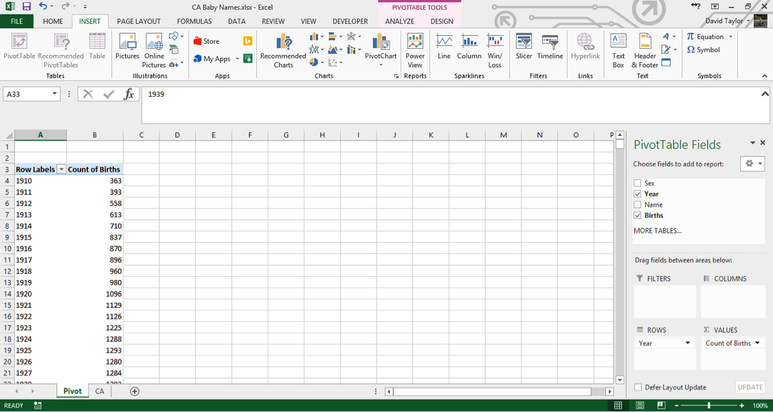 analyze large data sets excel 5