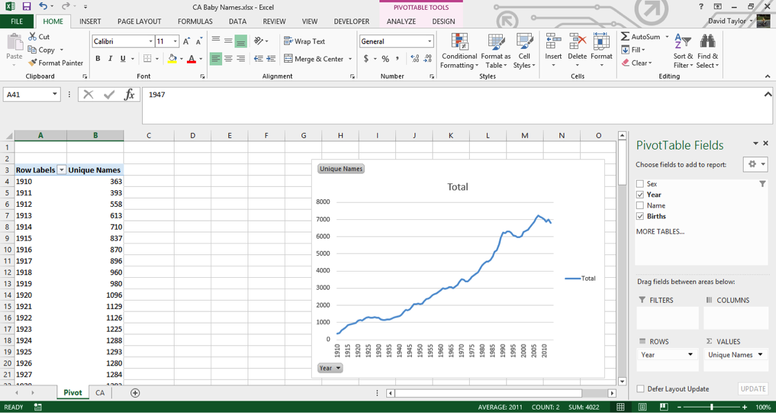 analyze large data sets excel 6