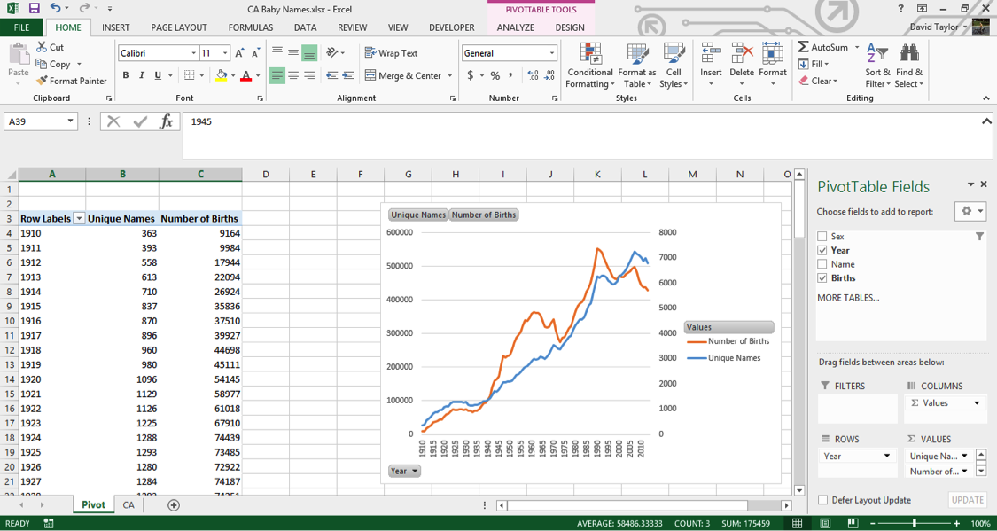 analyze large data sets excel 7