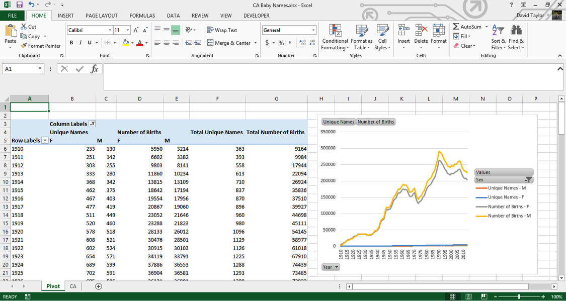 analyze large data sets excel 8