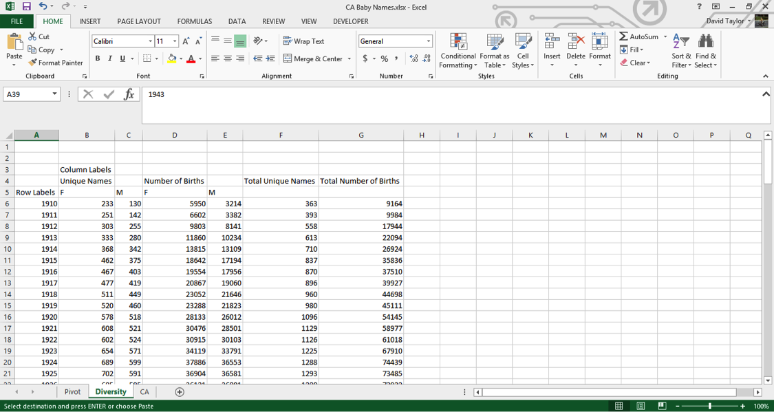 analyze large data sets excel 9