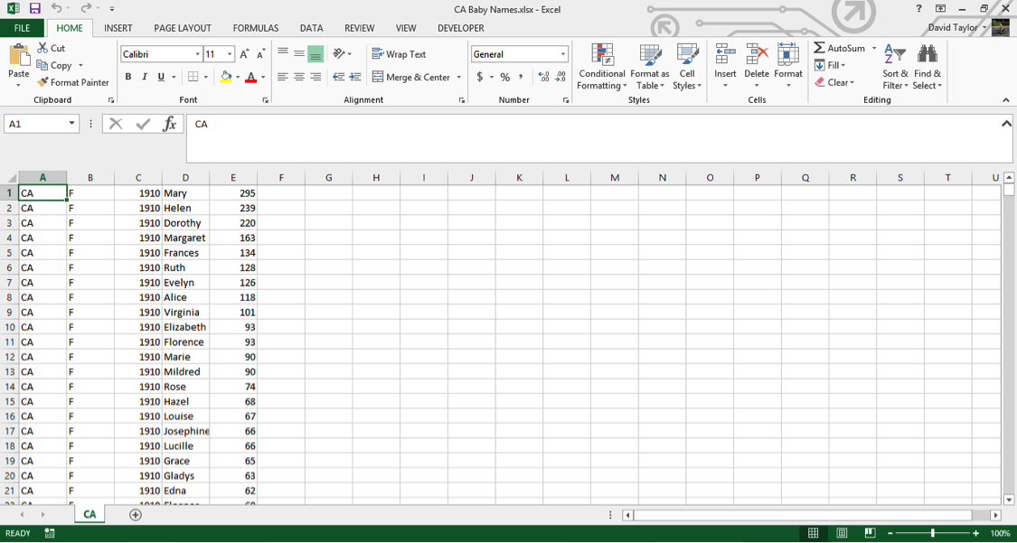 analyze large data sets excel 1