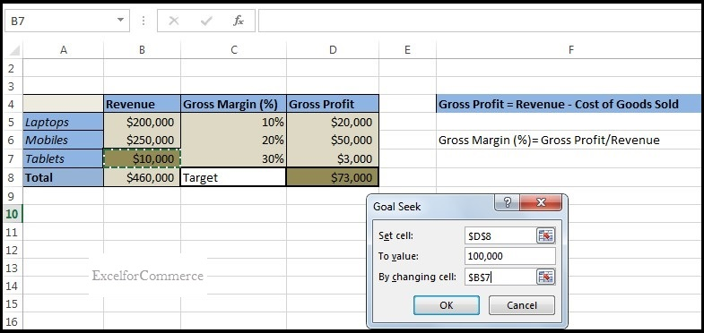 Using Goal seek from what-if analysis in excel_2