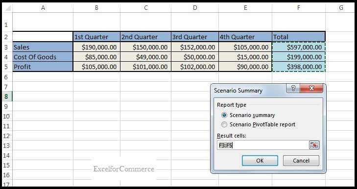 Using scenario manager from what-if analysis in excel_11