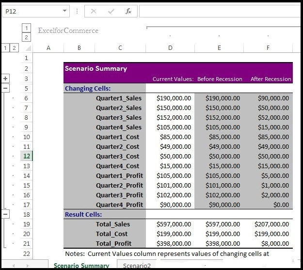 Using scenario manager from what-if analysis in excel_12