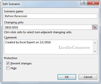 Using scenario manager from what-if analysis in excel_4
