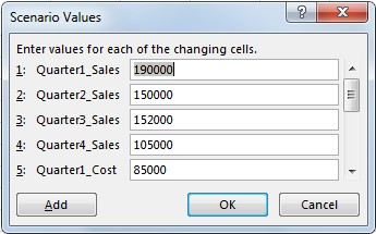 Using scenario manager from what-if analysis in excel_5