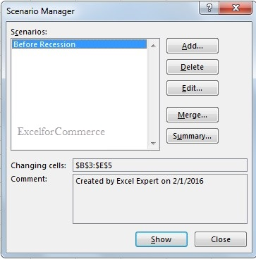 Using scenario manager from what-if analysis in excel_6