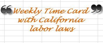 Excel For Commerce Time Card Calculator Payroll Template With California Overtime Rules